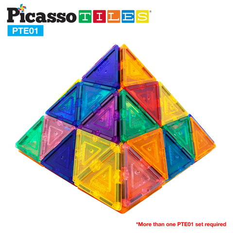 Image of PicassoTiles® 12 Piece Small Triangle Expansion Pack PTE01