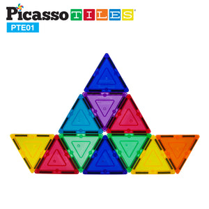 PicassoTiles® 12 Piece Small Triangle Expansion Pack PTE01
