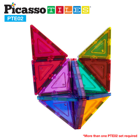 Image of PicassoTiles® 12 Piece Right Triangle Expansion Pack PTE02