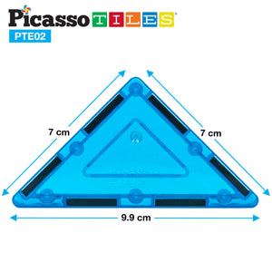 PicassoTiles® 12 Piece Right Triangle Expansion Pack PTE02