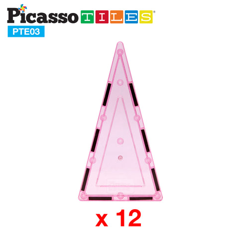 Image of PicassoTiles® 12 Piece Tall Triangle Expansion Pack PTE03