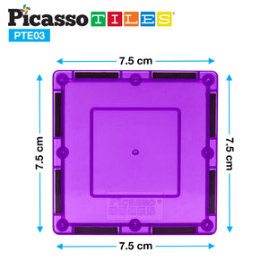 PicassoTiles® 12 Piece Square Expansion Pack PTE04