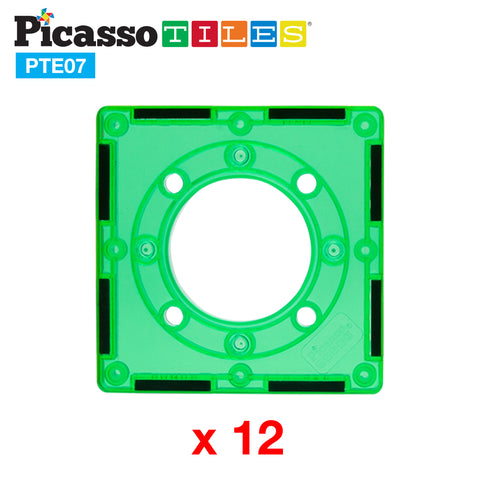 Image of PicassoTiles 12 Piece Marble Run Square Joint Expansion Pack