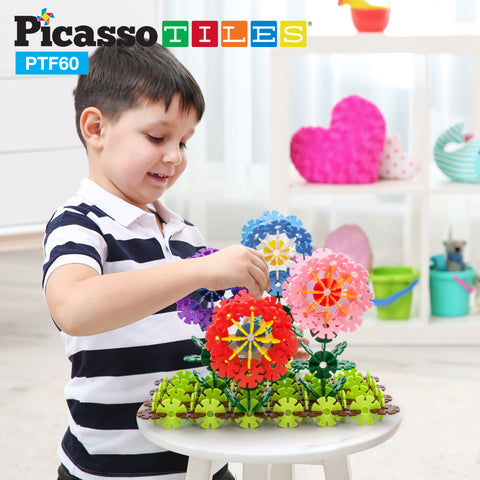 PicassoTiles 600pc Building Flakes Construction Toy Interlocking Blocks