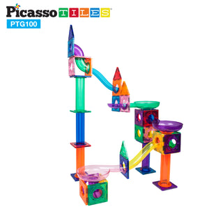 PicassoTiles® 100pc Marble Run Building Blocks PTG100