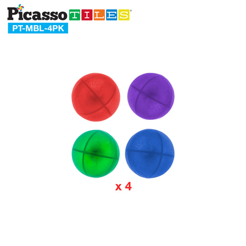 Image of PicassoTiles® Marbles for Track Run Building Blocks