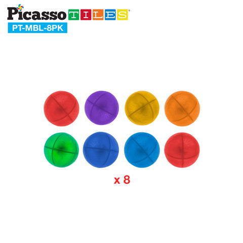 PicassoTiles® Marbles for Track Run Building Blocks