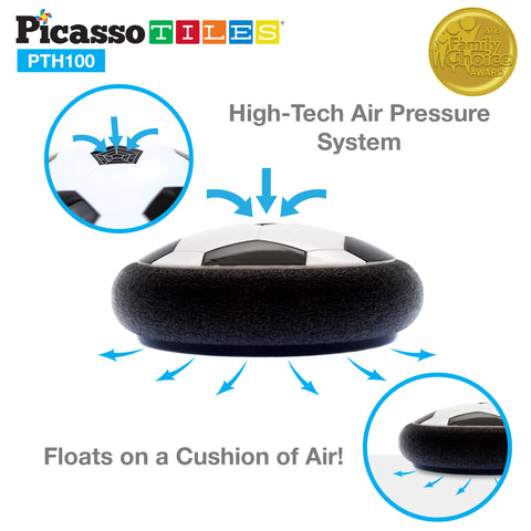 PicassoTiles Soccer Hoverball Air Hockey Electric Power Airlifted Hover Ball PTH100