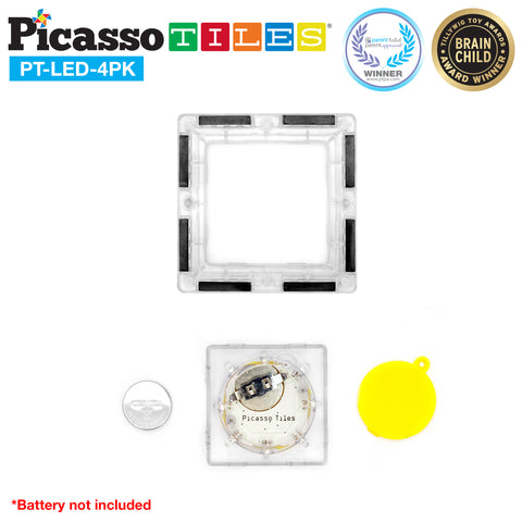 PicassoTiles® 4pc LED Set