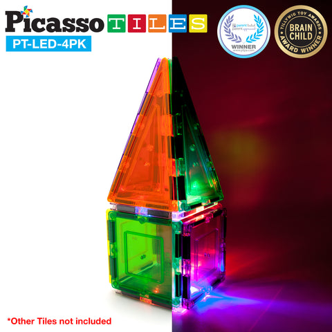 Image of PicassoTiles® 4pc LED Set
