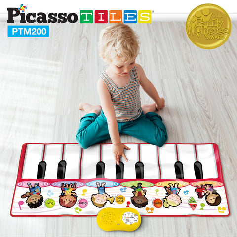 Image of PicassoTiles® PTM200 Educational Piano Music Playmat