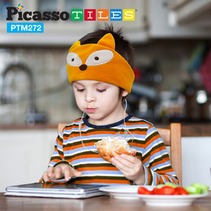 PicassoTiles® PTM272 85dB Kid Safe Fleece Headphone - Fox
