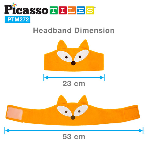Image of PicassoTiles® PTM272 85dB Kid Safe Fleece Headphone - Fox