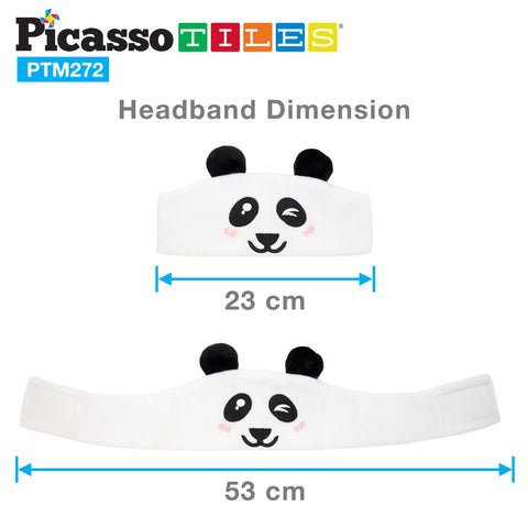 PicassoTiles® PTM272 85dB Kid Safe Fleece Headphone -Panda