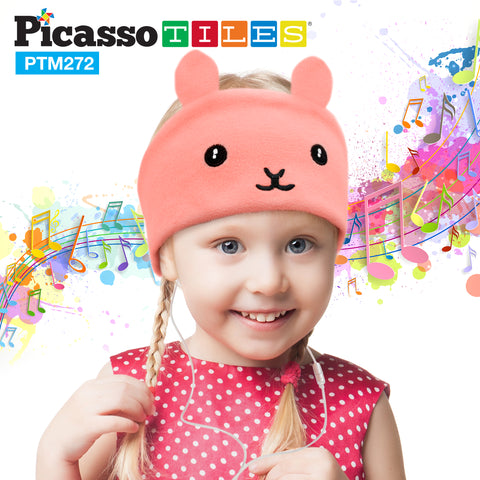PicassoTiles® PTM272 85dB Kid Safe Fleece Headphone - Rabbit