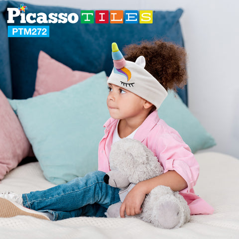 PicassoTiles® PTM272 85dB Kid Safe Fleece Headphone - Unicorn