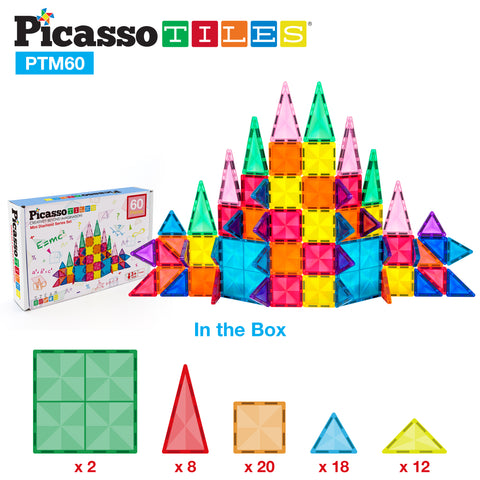 Image of PicassoTiles® Mini Diamond 60pc Set PTM60