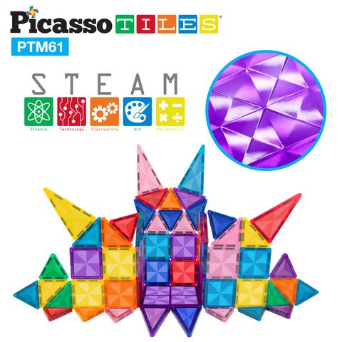 Image of PicassoTiles Mini Diamond 61pc Set PTM61