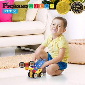 PicassoTiles® PTN100 Engineering Construction Set