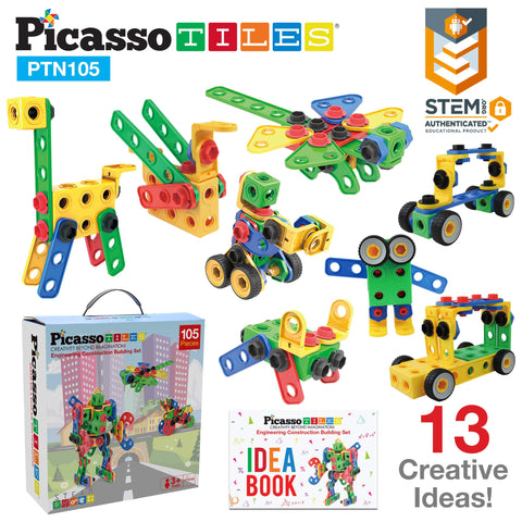 Image of PicassoTiles® PTN105 Engineering Construction Set