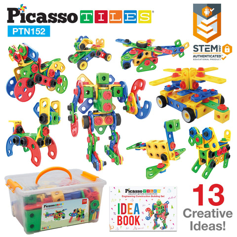 PicassoTiles PTN152 Engineering Construction Set