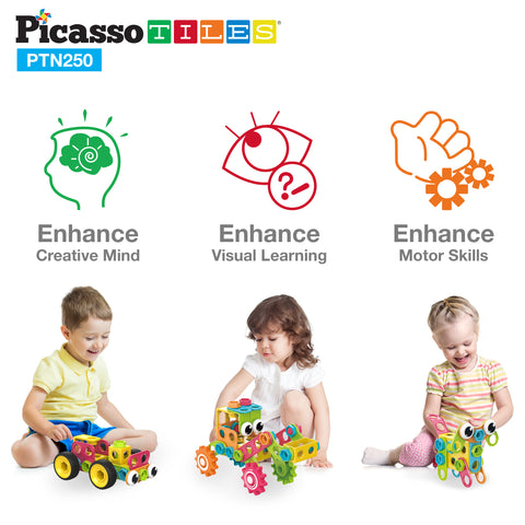 PicassoTiles PTN250 Engineering Construction Set