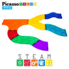 PicassoTiles 12 Piece Race Track Expansion Variety Add-On Pack