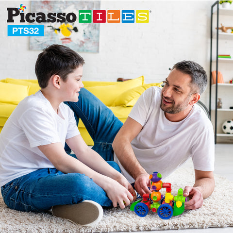 PicassoTiles 32pc Building Block Set PTS32