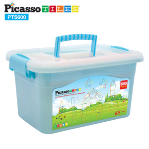 PicassoTiles 600pc Straw Building Set PTS600