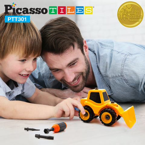PicassoTiles PTT301 Educational Constructible DIY Take-A-Part Toy