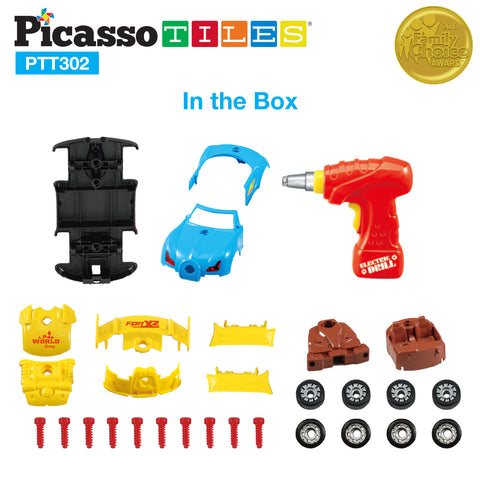 PicassoTiles Take-A-Part Race Car PTT302