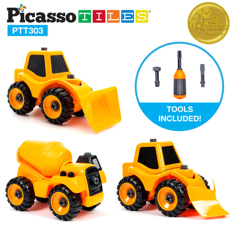 Image of PicassoTiles PTT303 3-in-1 Educational Constructible DIY Take-A-Part Toy