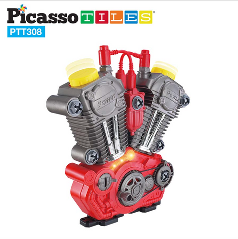 PicassoTiles Take-A-Part Engine Motor 24pc Set