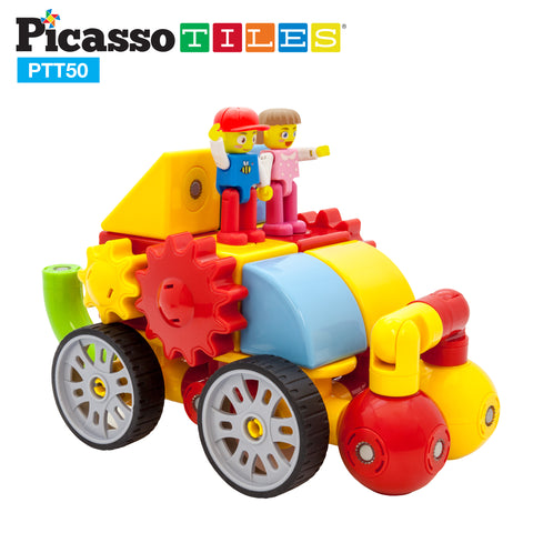 Image of PicassoTiles® PTT50 50pc Magnetic Block Set
