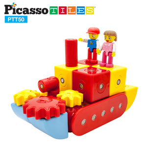 PicassoTiles® PTT50 50pc Magnetic Block Set