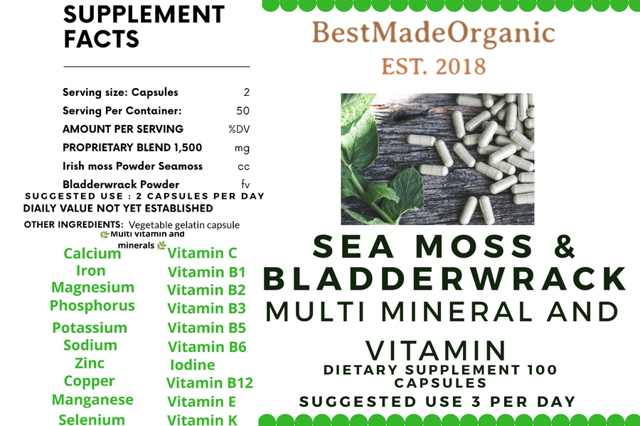 Sea moss and bladderwrack benefits