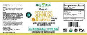 Organic Sea moss and Bladderwrack Vegan gummies