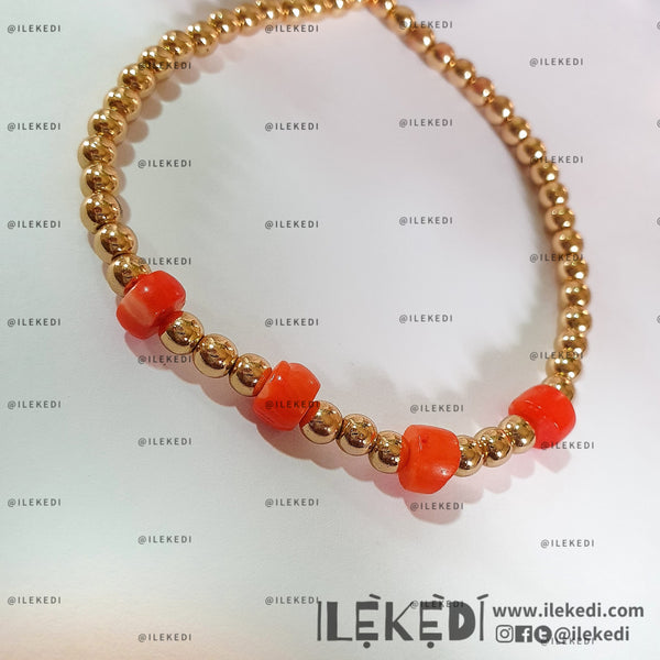 Gold-Filled Coral Zara Bracelet