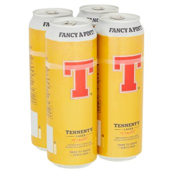 Tennent's Lager 4 pack 568ml