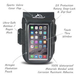 Aqua 100% Waterproof Armband for iPhone 11 Pro/X/8/7, Galaxy S7/S6 & more - SAVE 20%