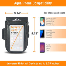 Load image into Gallery viewer, Aqua 100% Waterproof Armband for iPhone 11 Pro/X/8/7, Galaxy S7/S6 & more