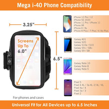 Load image into Gallery viewer, Armpocket Mega i-40 Running Phone Armband for iPhone 11/11 Pro/XS/XR/X, Galaxy Note 10, S21/S20 & more