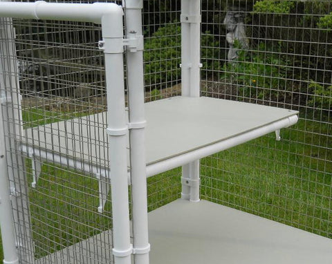 Shelf fitted to a Penthouse Product cat cage