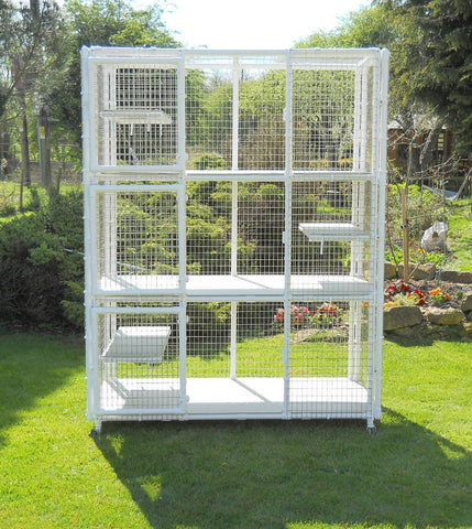 Tower cage from Penthouse Products with shelves and castors