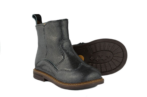 Ocra Girls Black Leather Boot