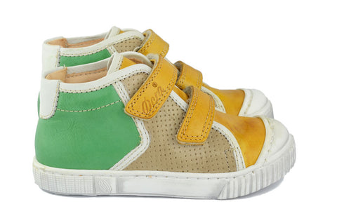 Ocra Boys Green & Yellow Hightop