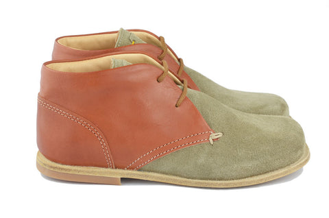 Ocra Boys Brown & Grey Desert Boot