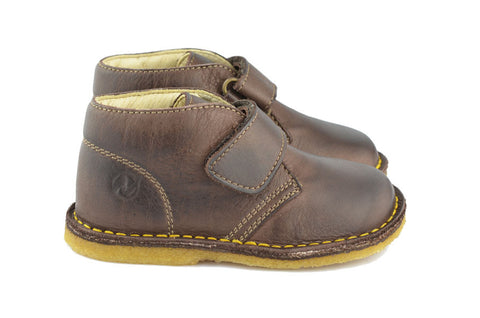 Naturino Boys Dark Brown Desert Boot with Velcro Strap