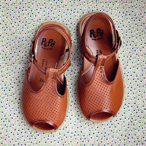 Pèpè Girls Brown Sandal