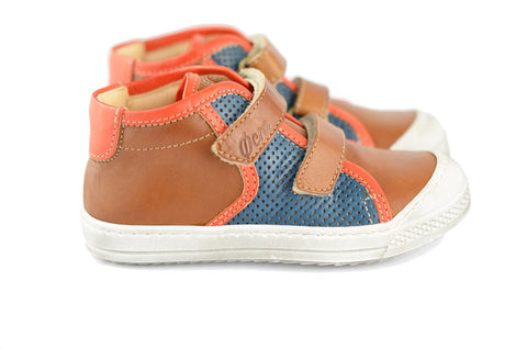 Ocra Boys Brown, Blue & Orange Hightop